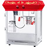 6131 Great Northern Popcorn Red All Star GNP-450 Classic Popcorn Machine Top,  4 oz