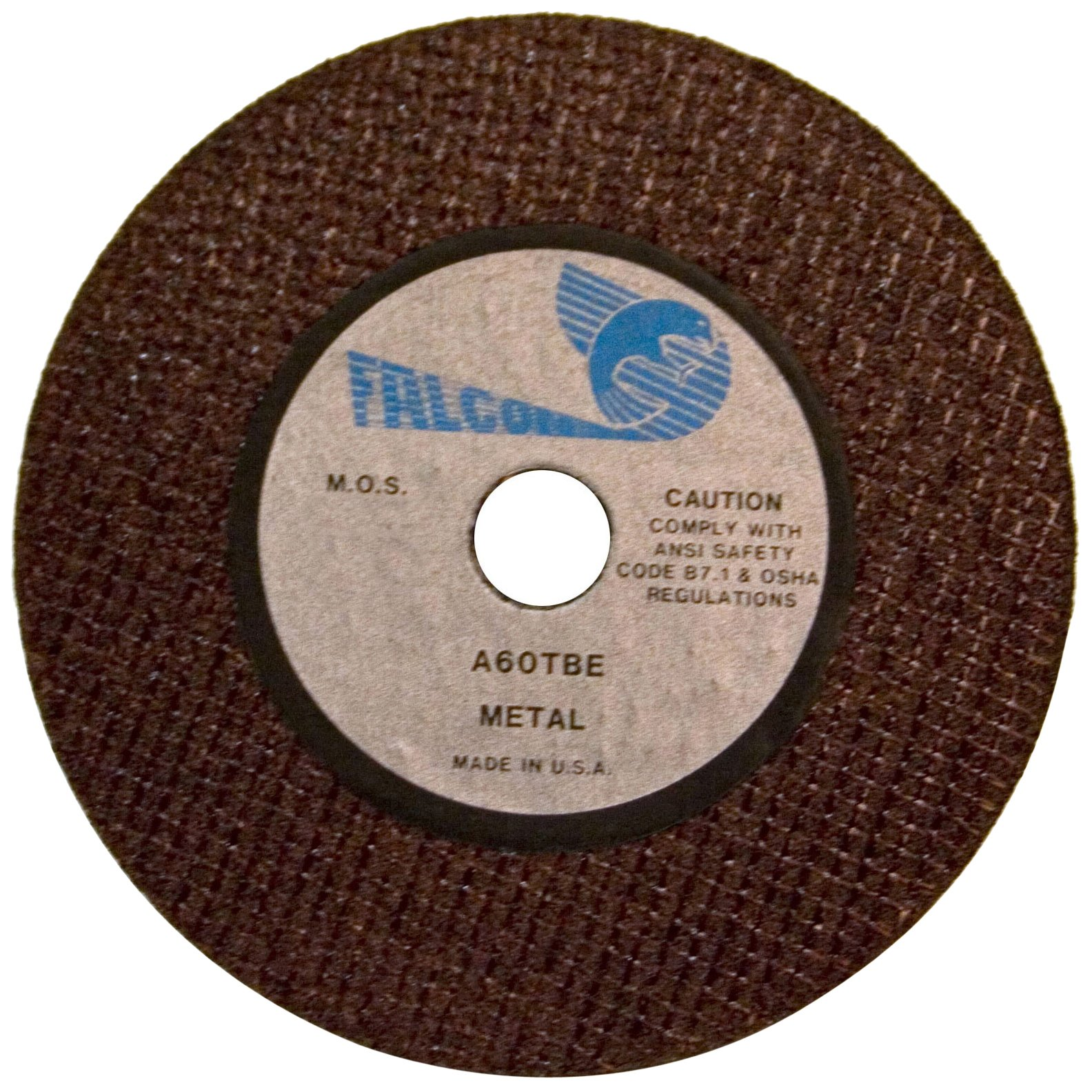 Falcon A60TBE Extra Tough Resinoid Bonded Double Reinforced Grinding and Snagging Abrasive Cut-off Wheel, Type 1, Aluminum Oxide, 1/4'' Hub, 2-1/2'' Diameter x 1/4'' Thickness, 60 Grit  (Pack of 5)