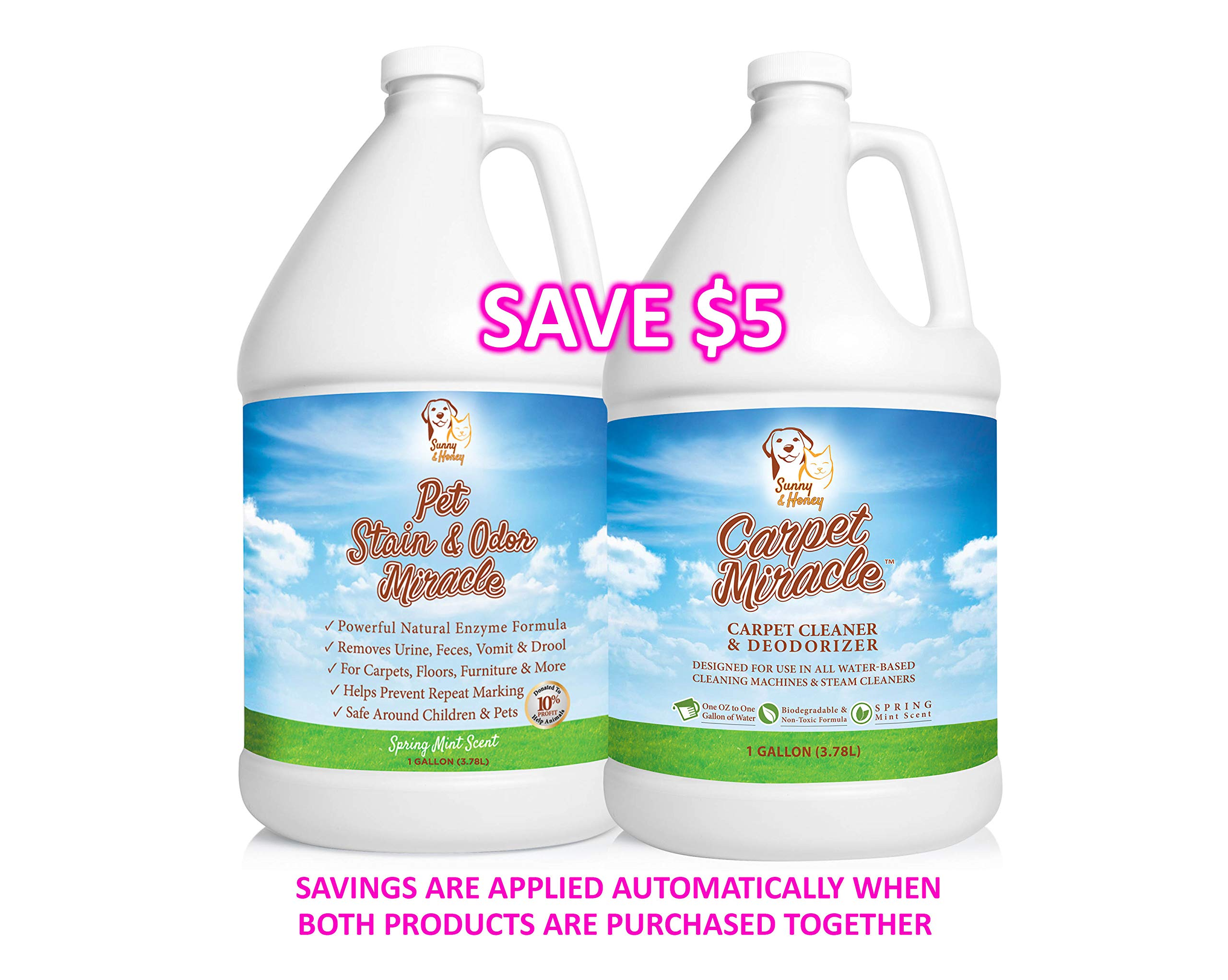 Carpet Miracle - Concentrated Machine Shampoo, Deep Stain and Odor Remover Solution, Deodorizing Formula (1 Gallon) by Sunny & Honey (Image #7)