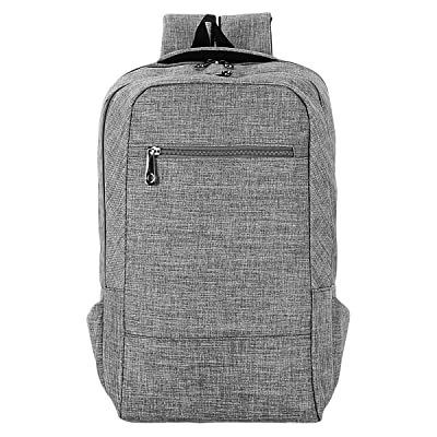 Veenajo Lightweight Laptop Backpack College School Large Travel Bag Fits Up To 15.6-Inch Laptop Grey