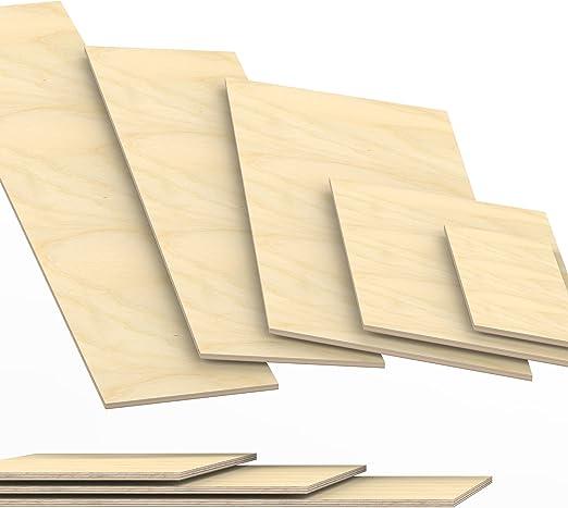 10x10 cm 10mm Sperrholz-Platten Zuschnitt L/änge bis 150cm Birke Multiplex-Platten Zuschnitte Auswahl