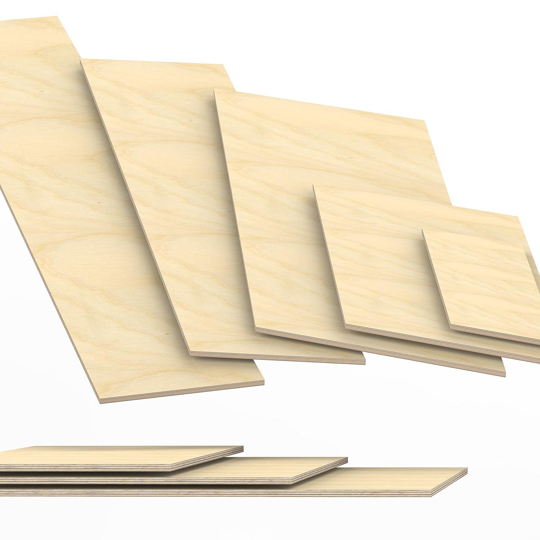 10x80 cm 8mm Sperrholz-Platten Zuschnitt L/änge bis 150cm Birke Multiplex-Platten Zuschnitte Auswahl