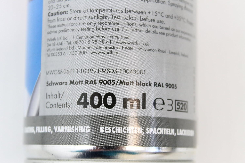 Würth aerosol (Negro Mate 400 ML: Amazon.es: Bricolaje y herramientas