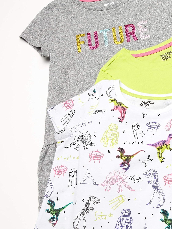 Spotted Zebra Girls 3-Pack Short-Sleeve Tunic Tops Short Sleeve T-Shirt