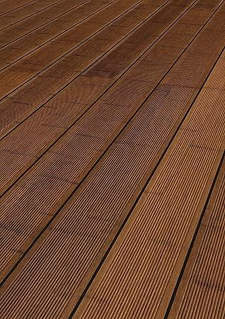 Terrassendiele Bambus   CoBAM Standard SELECT   seitlich genutet    Nut-Riffel