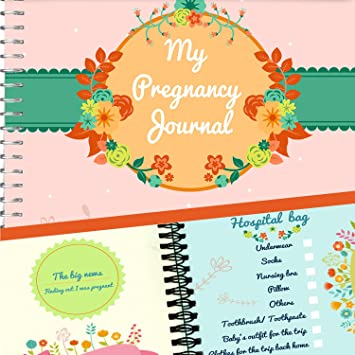 amazon com my pregnancy journal and baby memory book with stickers