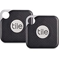 2-Pack Tile Pro Bluetooth Item Tracker with Replaceable Battery (2018)