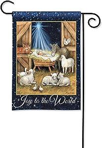 BreezeArt Studio M Joy to The World Winter Christmas Garden Flag - Premium Quality, 12.5 x 18 Inches
