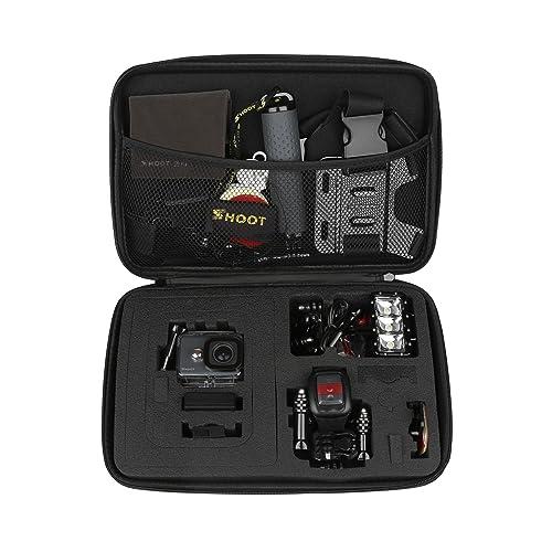SHOOT Carrying Case Waterproof Storage Case for GoPro Hero 7/(2018)/6/5/4/3+/3 Xiaomi Yi SJCAM APEMAN AKASO Cameras and Accessories
