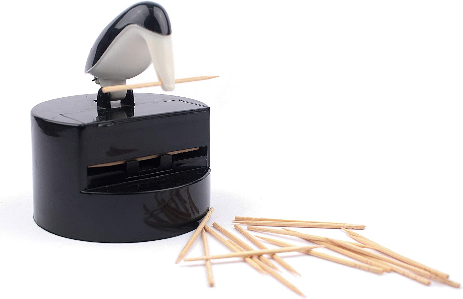 250-count RSVP Willie Woodpicker Toothpick Dispenser with Toothpick Refill