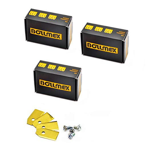 Bollmex - Cuchillas de titanio para cortacésped Husqvarna ...