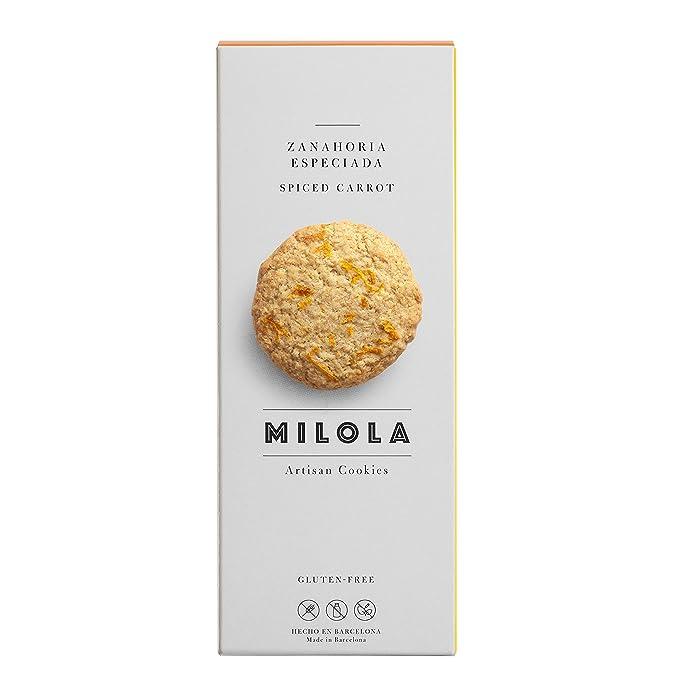 Milola, Galleta de Zanahoria Especiada - 3 de 140 gr. (Total 420 gr