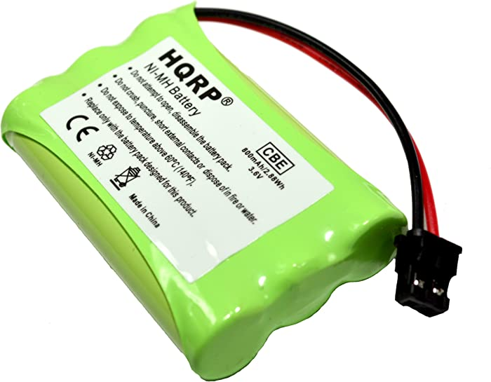HQRP Cordless Phone Battery Compatible with Uniden PowerMax 5.8GHz 30878864022, Powermax 2.4 GHz, GE TL26402, GP 80AAALH3BMX, 80AAALH3BMZ Replacement Plus Coaster