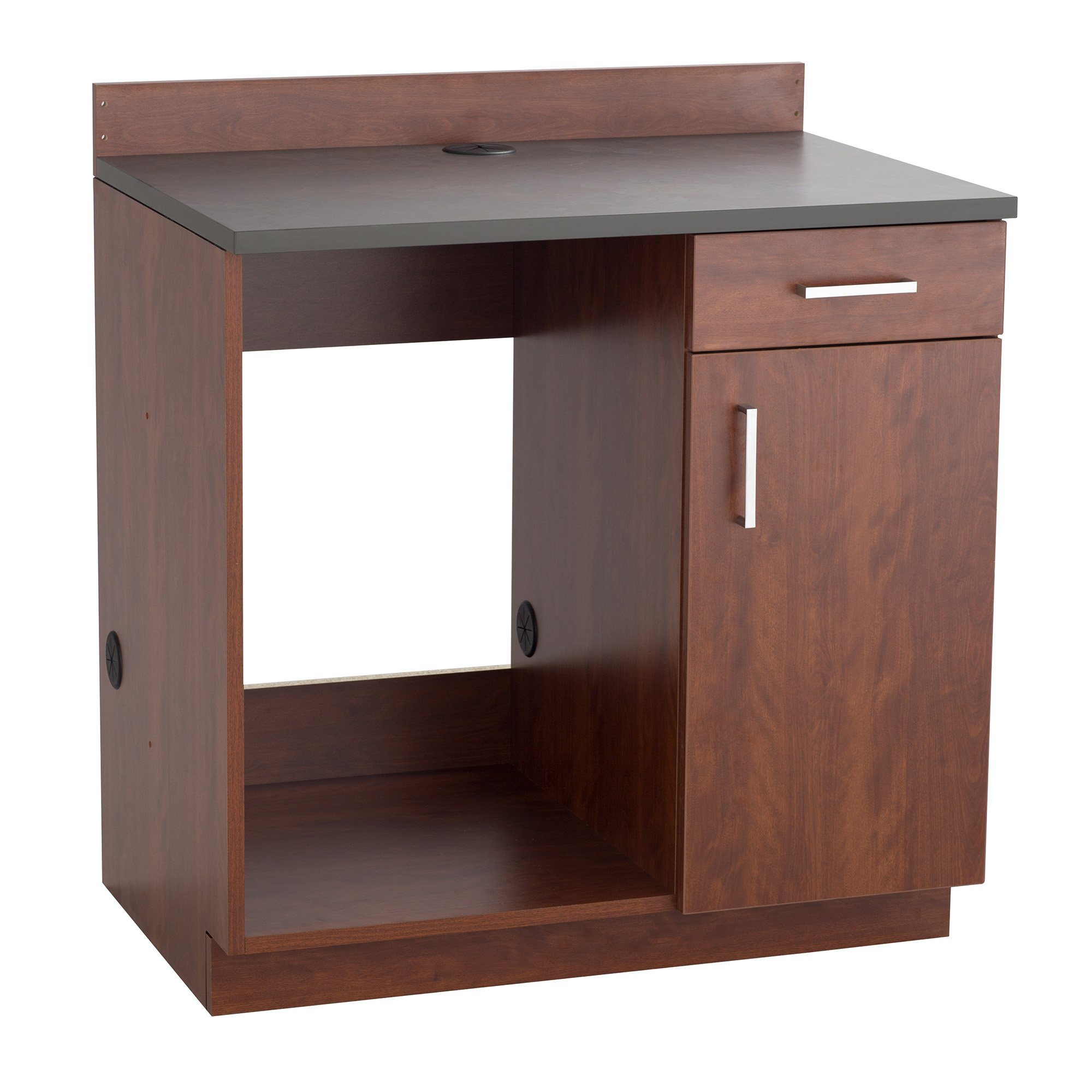Safco Products Modular Hospitality Breakroom Base Cabinet, Appliance, Mahogany Base/Rustic Slate Top by Safco