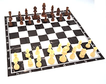Amazon com: Real Wood Chess Men Pieces Set Game: Toys & Games
