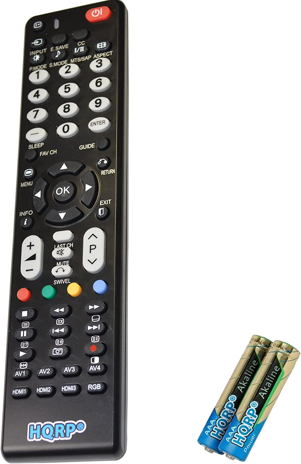 HQRP Remote Control Works with Hitachi P42A202 P42H401 P42T501 P50A202 P50A402 LCD LED HD TV Smart 1080p 3D Ultra 4K Plasma + HQRP Coaster