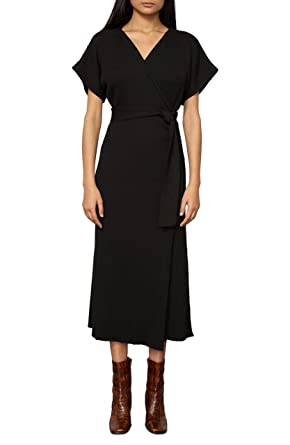 e6c72cb648c7e Amazon.com  Mara Hoffman Women s Joss Short Sleeve Wrap Midi Dress ...
