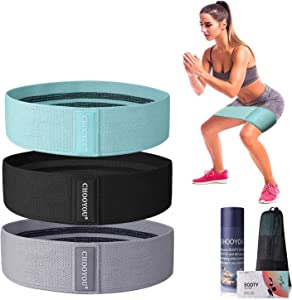HOMOFY Resistance Bands ( 2019 Upgrade ) Exercise Bands Hip Booty Bands Workout Bands-Cotton Loop Resistance Band for Exercise Legs & Butt Body Stretching, Yoga, Pilates, Muscle Training