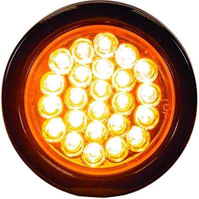 "Buyers Products 4"" Round LED Recessed Strobe Light, Amber: Automotive"