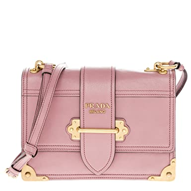 409dc4e7901b1d ... official prada womens glace cahier small calf shoulder bag pink 02c46  005cd ...