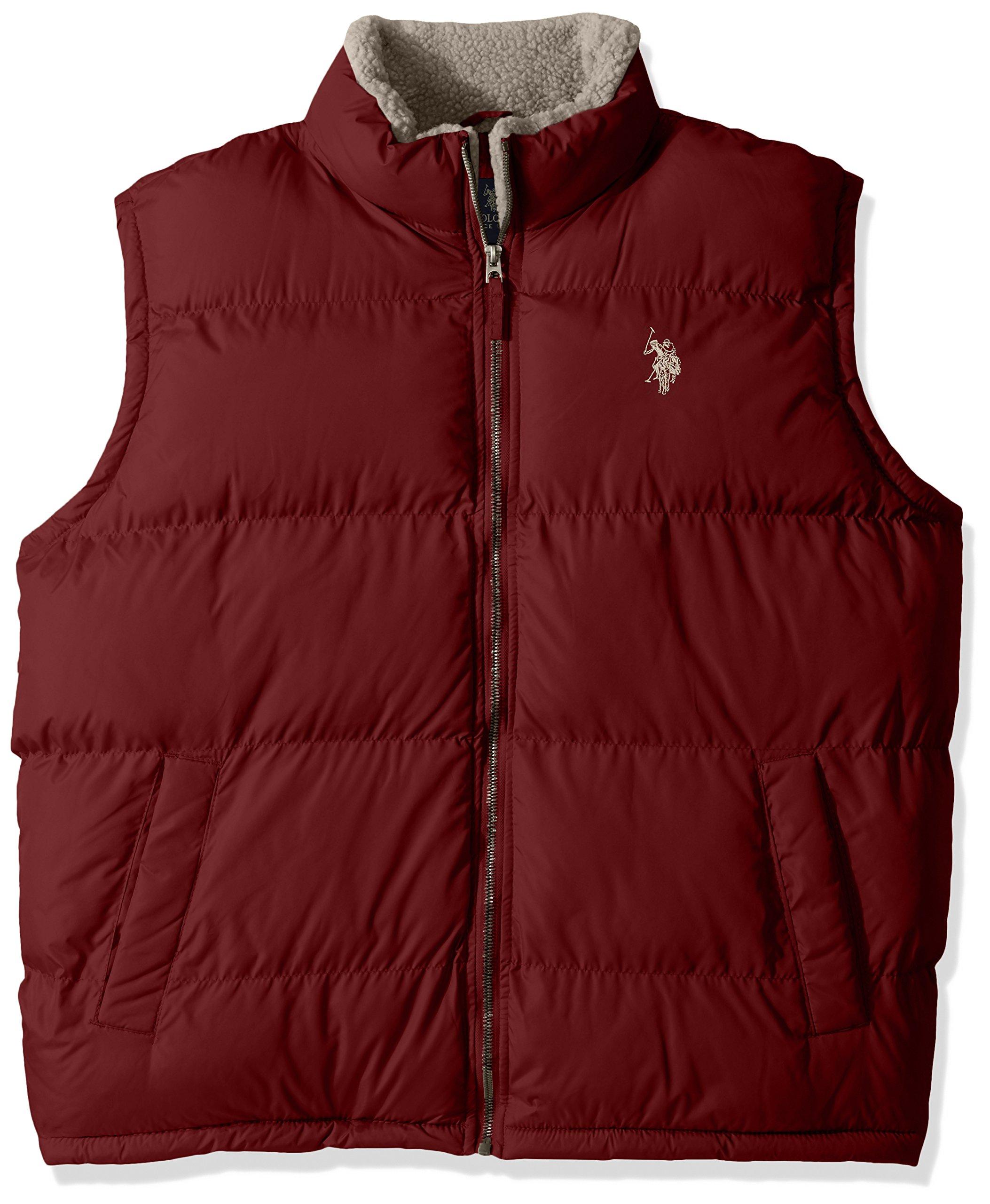 U.S. Polo Assn.. Mens Standard Puffer Vest, University Red 5604, 2X by U.S. Polo Assn.