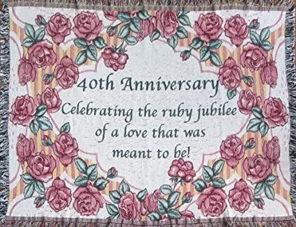 Amazon 40th Anniversary Cotton Sofa Throw 40th Wedding