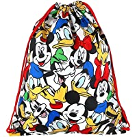 Mickey Mouse and Friends Drawstring Backpack Tote Bag, 15 1/2 Inch