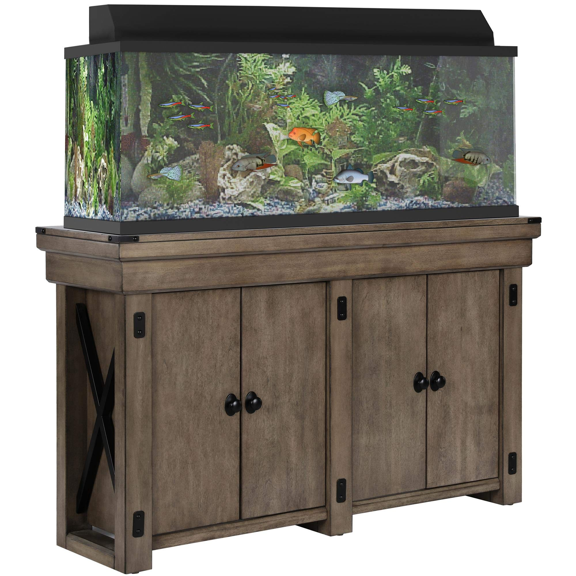 Ameriwood Home  Wildwood Aquarium Stand, 55 gallon, Rustic Gray by Ameriwood Home
