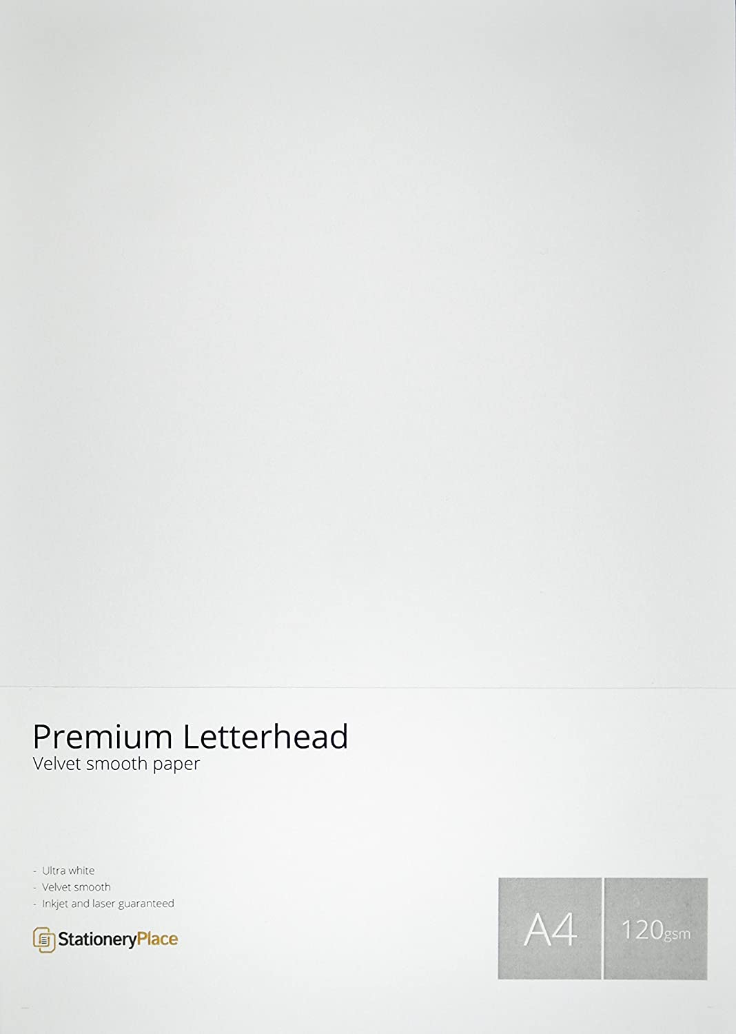 stationery place premium letterhead paper 120 gsm a4 100 sheet pack