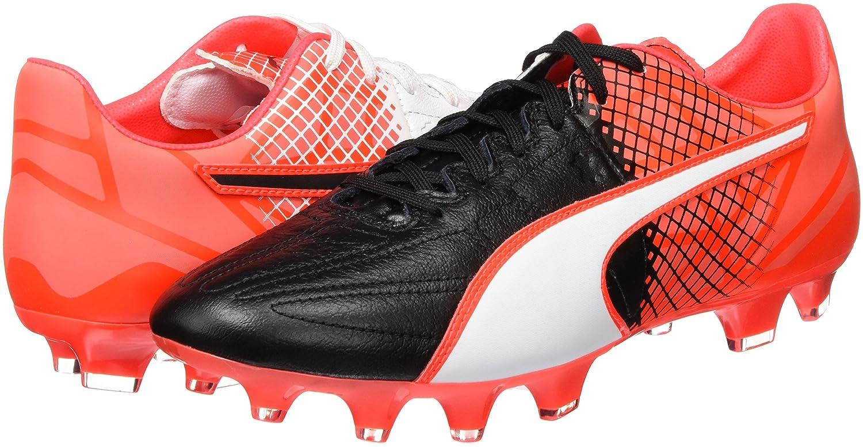 Puma Evospeed 3 5 F - Chaussures de Football - Homme - Noir (Blk/WHT/Red) - 45 EU (10.5 UK)