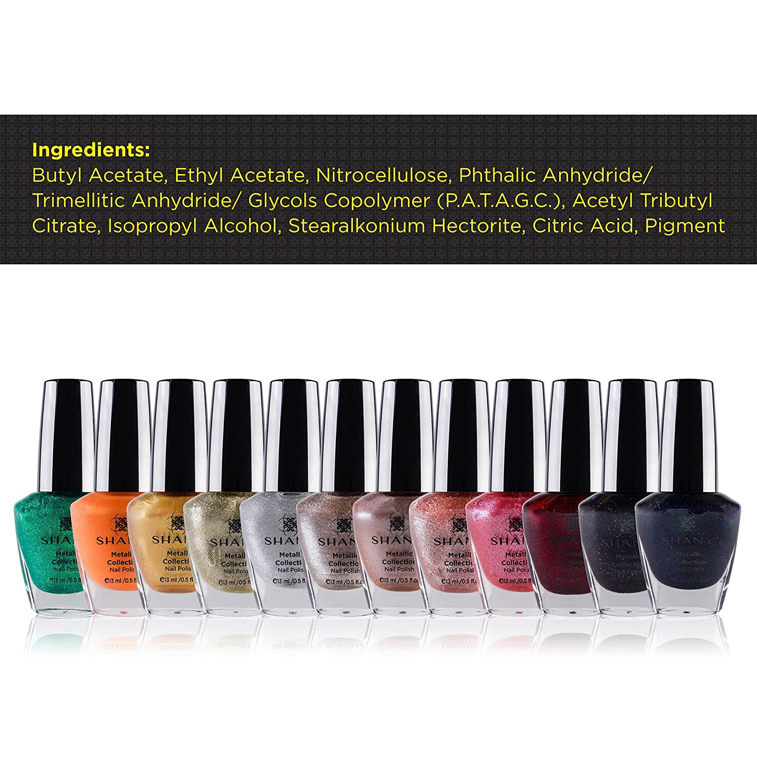 Amazon.com : SHANY Nail Polish Set - 12 Futuristic Shades in ...