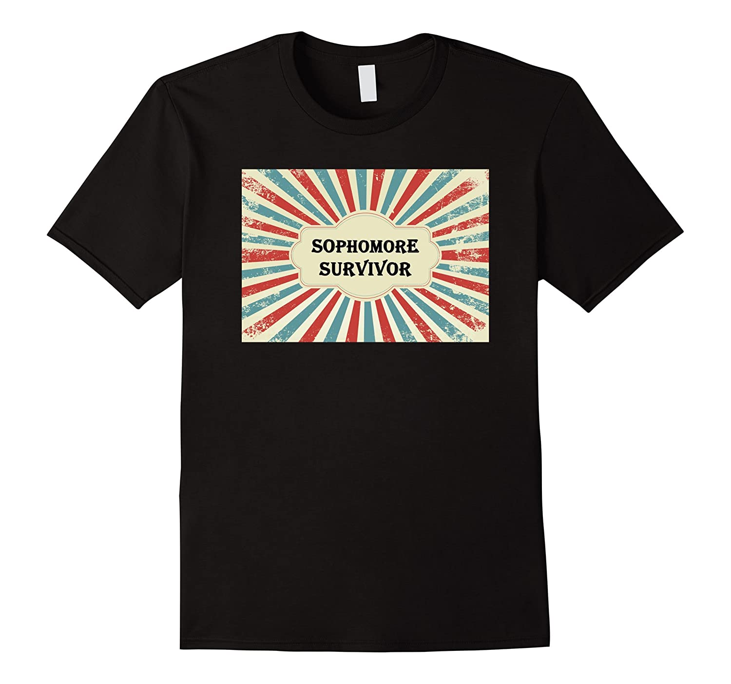 Funny back to school sophomore survivor graphic t shirt for Shirts with graphics on the back