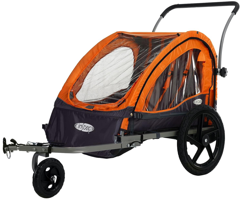 Instep Quick N Ez Bicycle Trailer Orange Gray