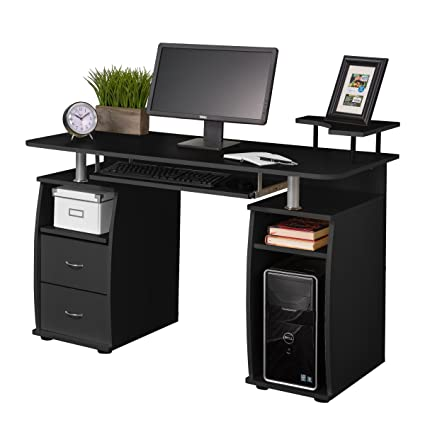 amazon com fineboard home office computer desk with raised side rh amazon com