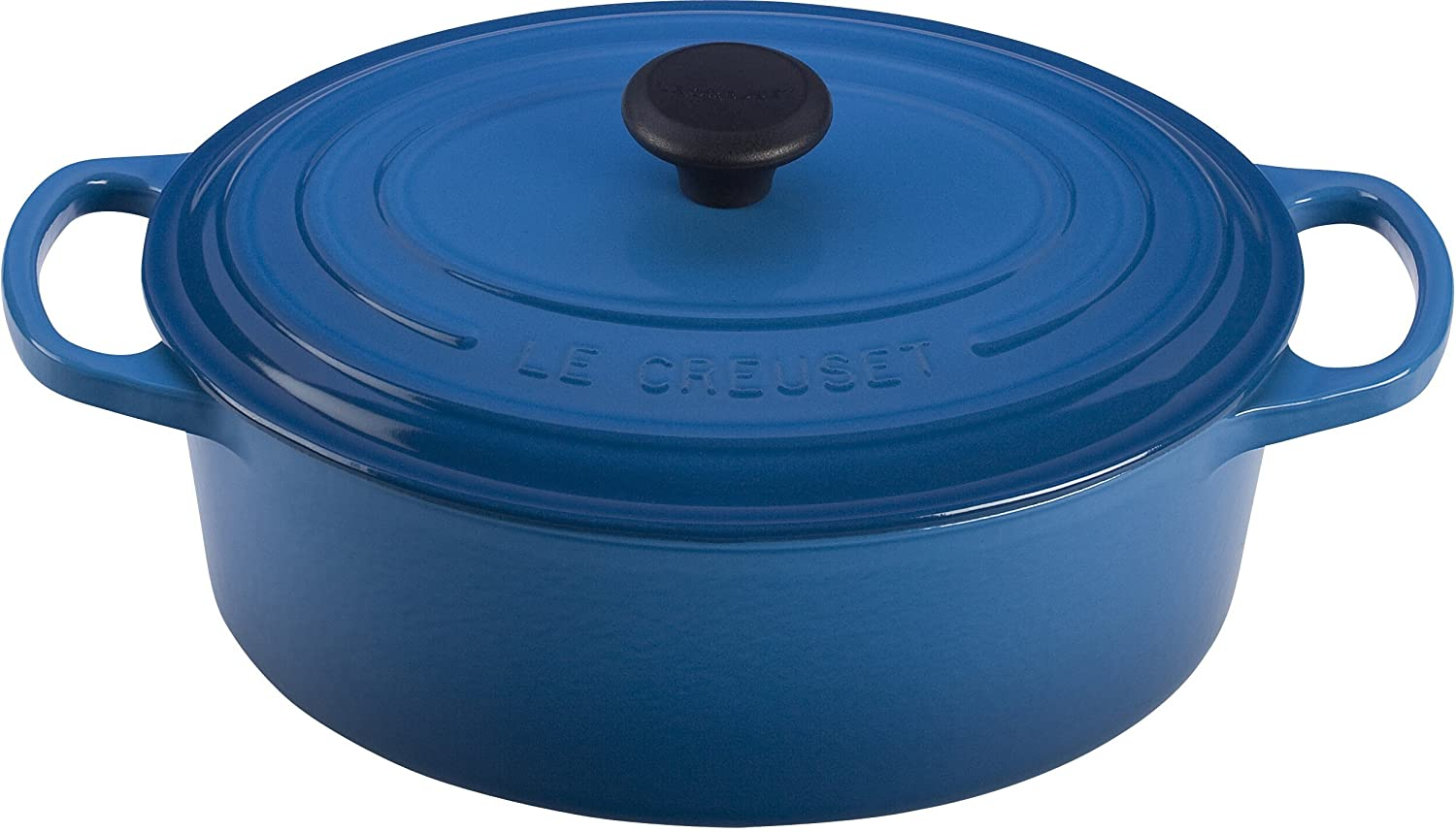 Le Creuset Signature Enameled Cast-Iron 3-1/2-Quart Oval (Dutch) French Oven, Marseille