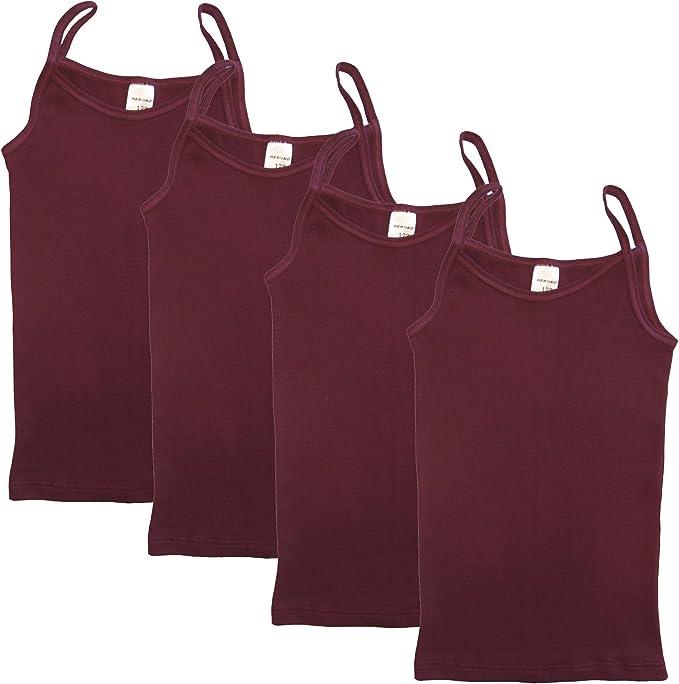 HERMKO 2460 Kit de Cuatro Camisetas Interiores para Chicas, Hechas ...