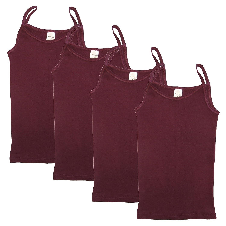 HERMKO 2460 4er Pack Mädchen Träger Top, Unterhemd