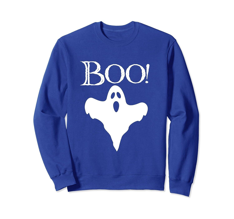 Boo Halloween Costume Ghost Sweatshirt-mt
