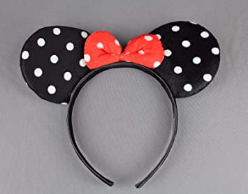 Amazon.com   Black Minnie Mouse Ears Headband Ear Hair Band Costume Polka  Dot Mickey Girls Headbands For Women   Beauty 4462242eef1