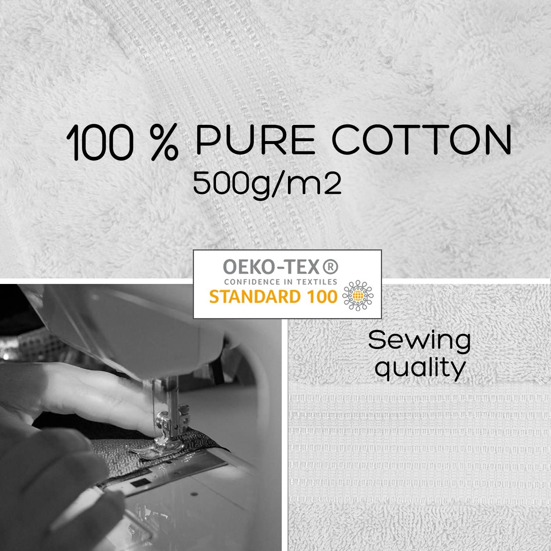 Asciugamani Professionali da Bagno Bianco 4 Pack Bath Sheet Cotone Pleasant Home 500 g//mq
