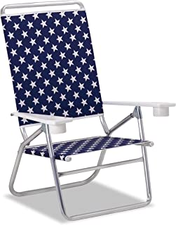 product image for Telescope Casual M51194602 Light 'n Easy High Boy Mini-Sun Chaise, Blue with White Stars, 2 Pack