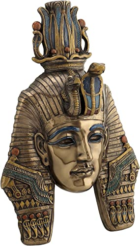US King TUT Tutankhamum Mask Egyptian Pharaoh Wall Plaque Sculpture