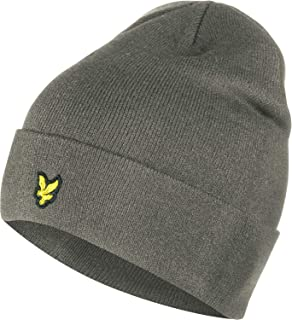 becec2559 Lyle & Scott Men's Knitted Ribbed Plain Beanie, Black (True Black ...