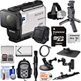 Sony Action Cam FDR-X3000R Wi-Fi GPS 4K HD Video Camera Camcorder & Live View Remote + Shooting Grip Tripod + Action…