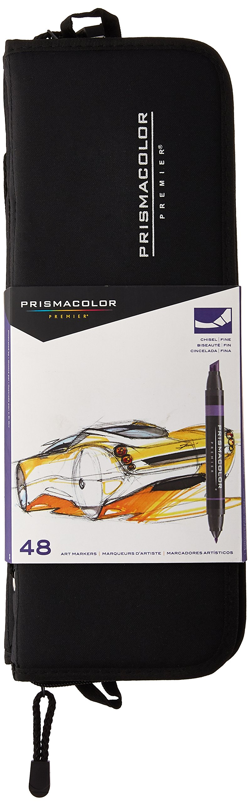 Prismacolor Premier Double-Ended Art Markers, Fine and Chisel Tip, 48 Pack, with Carrying Case by Prismacolor
