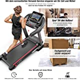Sportstech Pro Treadmill F50 with huge 18.5 inch Android LCD Touchscreen Display, more than 18 km/h, tablet holder, USB, WiFi and self-lubrication function, as well as 15% gradient - compact foldable
