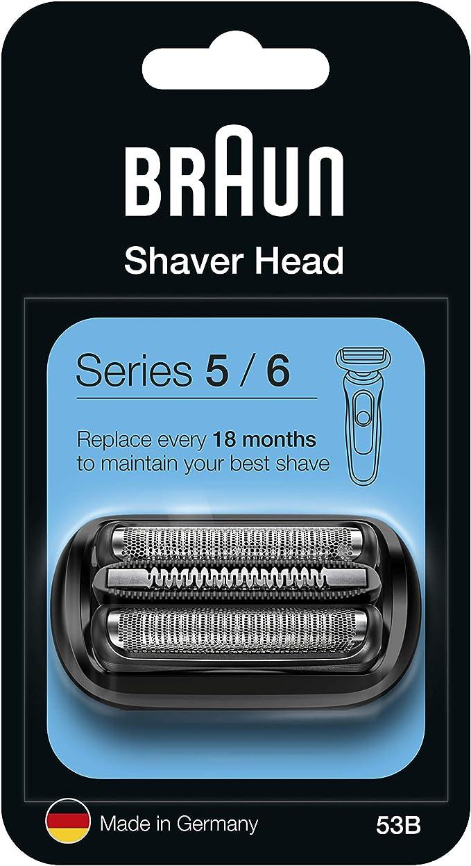 Braun Series 5 53B Cabezal de Recambio Negro para Afeitadora ...