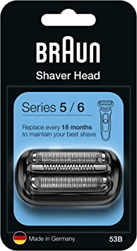 Braun Series 5 53B Cabezal de Recambio Negro para Afeitadora Eléctrica, Compatible con las Afeitadoras Series 5 y Series 6: Amazon.es: Salud y cuidado personal