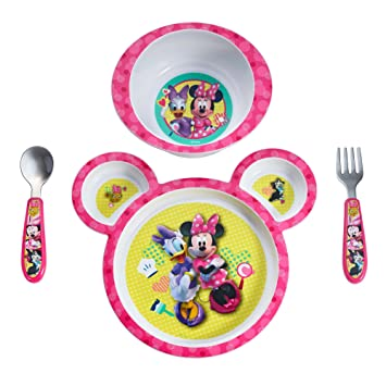 Exceptionnel The First Years Disney Baby Minnie Mouse 4 Piece Feeding Set