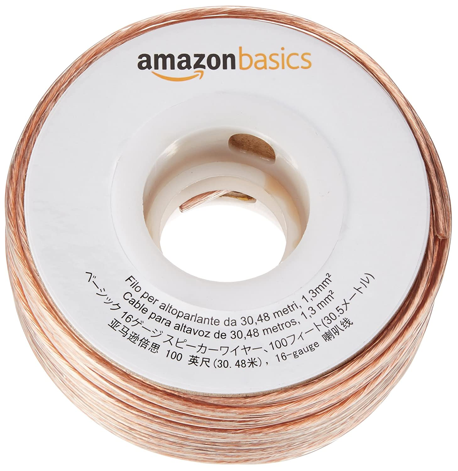 Amazonbasics 16 Gauge Speaker Wire 100 Feet Electronics Wiring Speakers In House